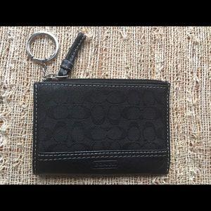 Coach Signature Card Case/Coin Purse/Keyring